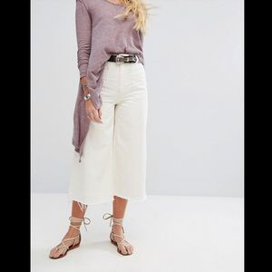 Free People Dawn to Dusk Crop Wide Leg Jeans